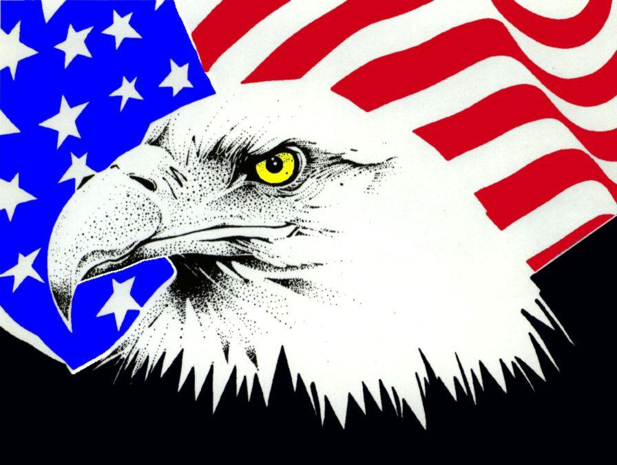 clip art american flag eagle - photo #18